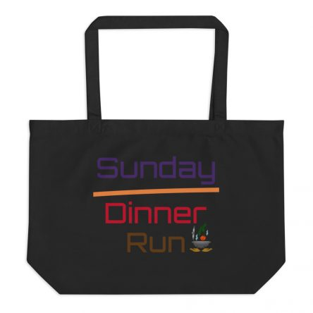 Sunday Dinner Large Organic Grocery Tote Bag