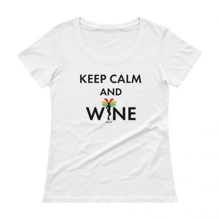 Keep Calm and Wine Ladies' Scoopneck T-Shirt