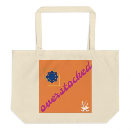 Overstocked Large Organic Grocery Tote Bag