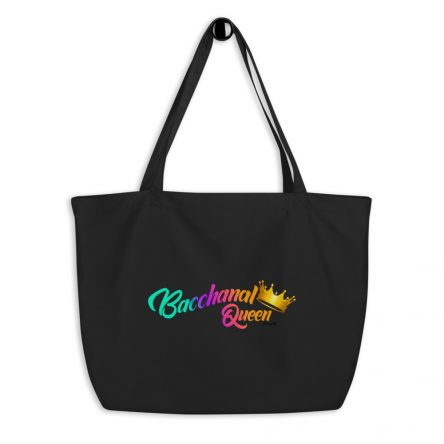 Bacchanal Queen Ladies' Large Organic Tote Bag